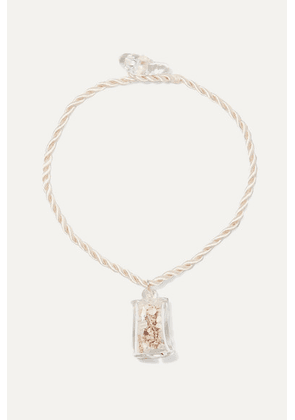 Maryam Nassir Zadeh - Shell Cube Glass And Cord Necklace - Clear