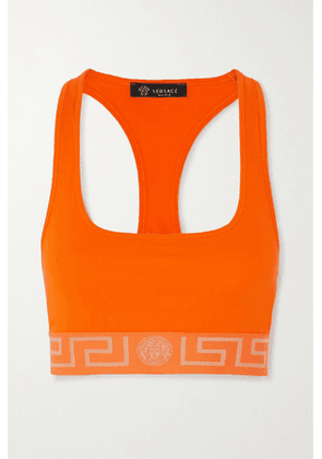 Versace - Stretch-cotton Jersey Soft-cup Bra - Orange
