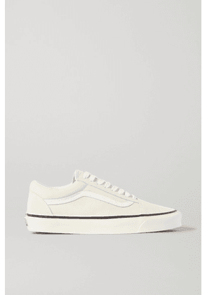 Old Skool two tone leather trimmed canvas and suede sneakers