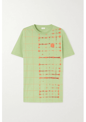 Loewe - Embroidered Tie-dyed Cotton-jersey T-shirt - Green