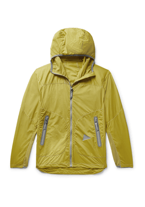 And Wander - Weave Windy Ripstop Hooded Jacket - Men - Yellow
