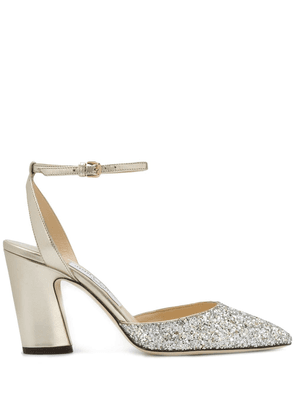 Jimmy Choo Micky 85 glitter pumps - GOLD