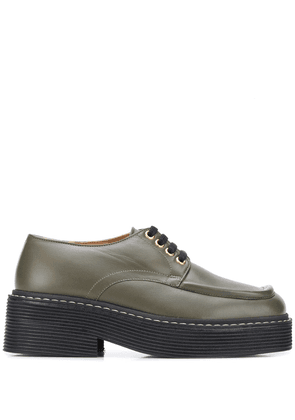 Marni square-toe lace-up shoes - Green