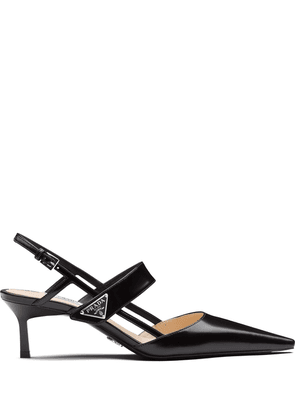 Prada patent leather slingbacks - Black
