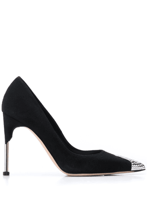 Alexander McQueen 100mm crystal-embellished pumps - Black