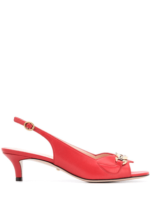 Gucci leather slingback pumps - Red