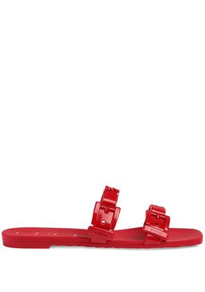 Gucci chain strap flat sandals - Red