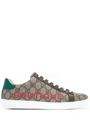 Gucci Boutique print sneakers - NEUTRALS