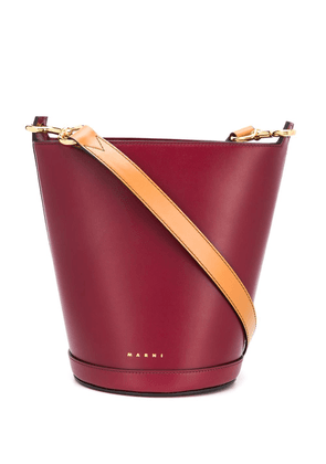 Marni crossbosy bucket bag - Red