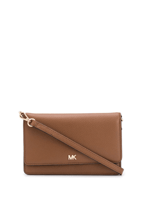Michael Michael Kors pebbled convertible crossbody bag - Brown