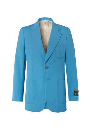Gucci - Blue Wool-Blend Canvas Blazer - Men - Blue