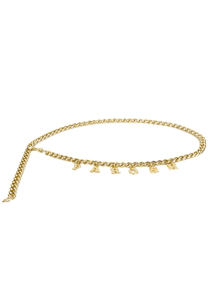 P.A.R.O.S.H. logo chain necklace - GOLD