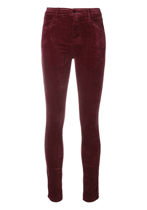 J Brand high rise skinny jeans - Red