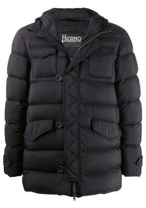 Herno flap pocket puffer jacket - Black