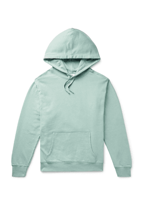 Les Girls Les Boys - Logo-Print Loopback Cotton-Jersey Hoodie - Men - Green
