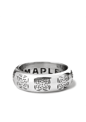 MAPLE - Engraved Silver Ring - Men - Silver