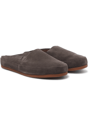 Mulo - Suede Backless Slippers - Men - Gray
