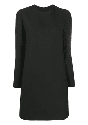 Valentino lace-detail long-sleeve shift dress - Black