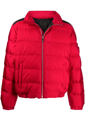 Prada funnel neck puffer jacket - Red