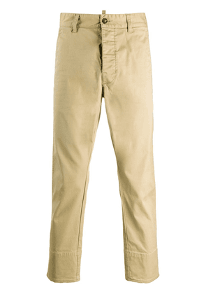 Dsquared2 slim-fit cropped chino trousers - NEUTRALS