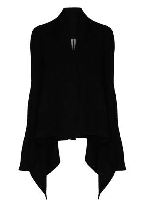 Rick Owens draped cashmere and wool-blend cardigan - Black