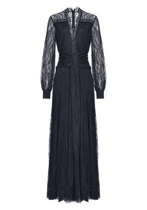 Pinko lace embroidered sheer sleeve dress - Black