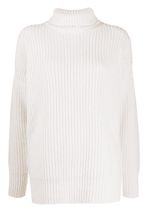 Marni chunky knit roll neck jumper - NEUTRALS