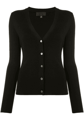 Nili Lotan V-neck knitted cardigan - Black