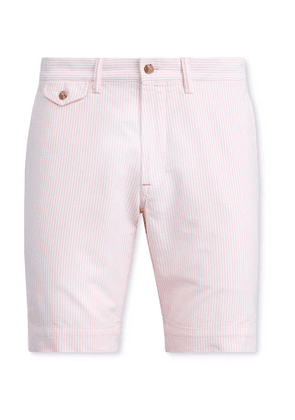 Polo Ralph Lauren - Bedford Pinstriped Stretch-Cotton Twill Shorts - Men - Pink