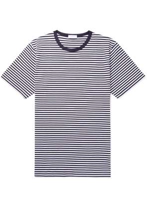 Sunspel - Striped Superfine Cotton-Jersey T-Shirt - Men - Blue