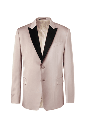 Valentino - Light-Pink Embroidered Satin-Trimmed Wool-Blend Tuxedo Jacket - Men - Pink