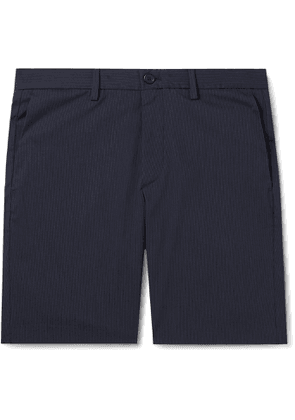 Theory - Zaine Slim-Fit Pinstriped Cotton-Blend Shorts - Men - Blue