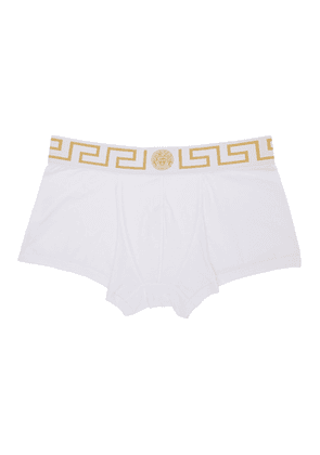Versace Underwear Two-Pack White Medusa Low-Rise Boxer Briefs