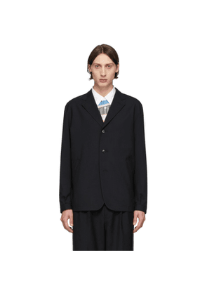 Comme des Garcons Homme Black Tropical Wool Three-Button Blazer