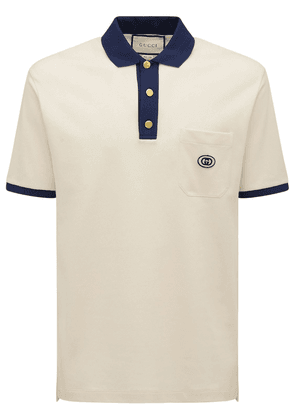 Cotton Polo Shirt W/ Gg Patch