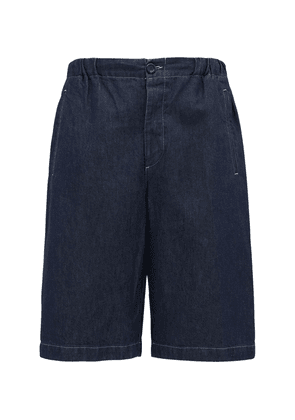 32cm Cotton Denim Bermuda Shorts