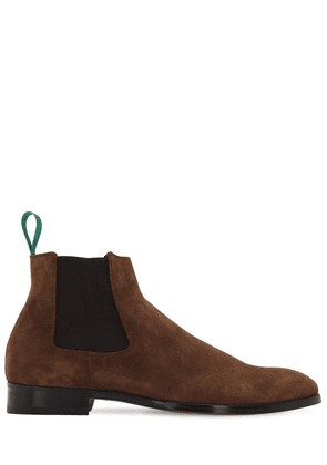 Crown Suede Chelsea Boots