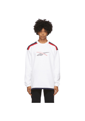 Reebok Classics White Classic Team Sports Crew Sweatshirt