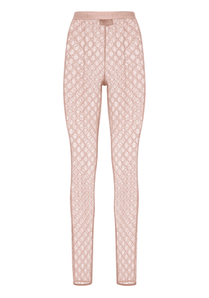 Gg Embroidered Tulle Leggings