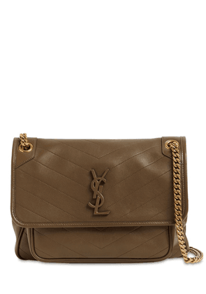 Medium Niki Monogram Leather Bag