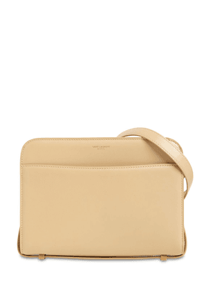Reverse Smooth Leather Shoulder Bag