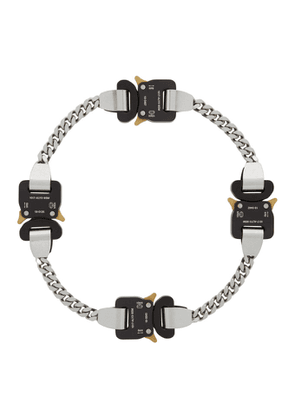 1017 ALYX 9SM Silver and Black Buckle Hero Chain Necklace