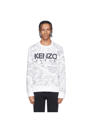 Kenzo White Logo All Over Sweatshirt
