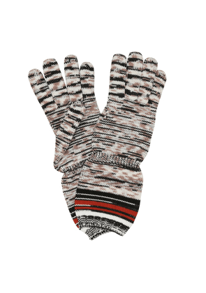 Striped wool gloves