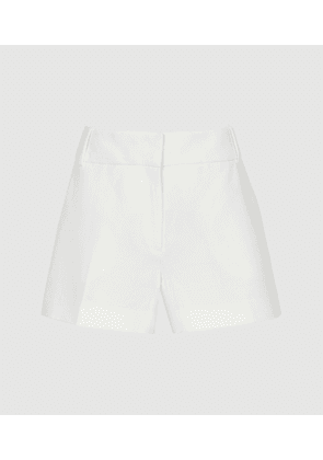 Reiss Lyla - Tailored Shorts in White, Womens, Size 4