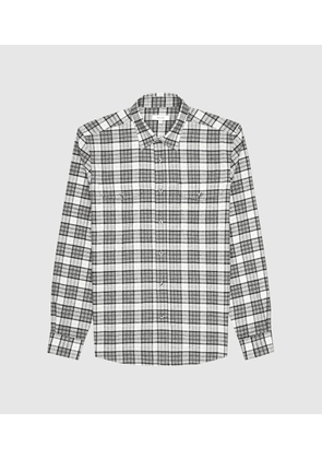 Reiss Alano - Checked Overshirt in Grey, Mens, Size XS