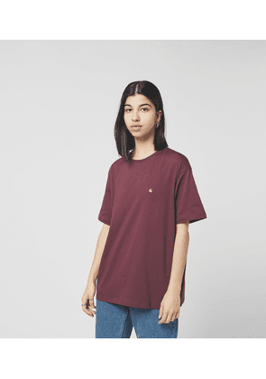 Carhartt WIP Chasy T-Shirt, Red/Gold