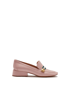 Mulberry Keeley Pyramid Loafer in Powder Pink Goatskin