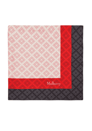 Mulberry Colour Block Tree Square in Icy Pink Silk Twill