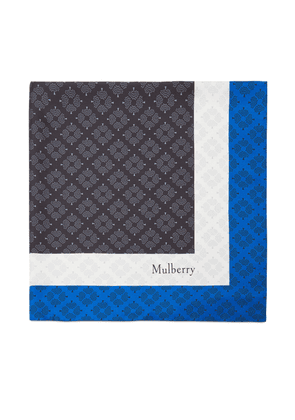 Mulberry Colour Block Tree Square in Black Silk Twill
